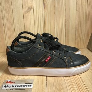 NEW Levi's Lodi Black Denim Mens Shoes Size: 8